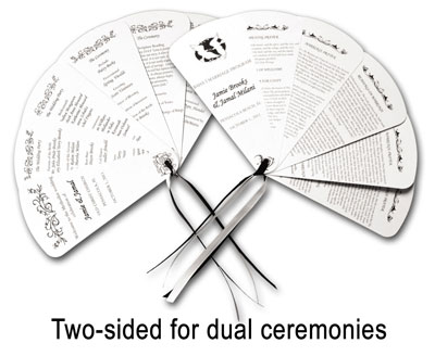 6 dual ceremony wedding fan
