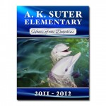 AK Suter Elementary School saddle-stitched yearbook
