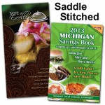 Saddle stitched coupon books
